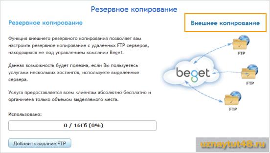 Как создать резервную копию сайта на хостинге Beget