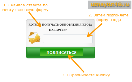 Как установить красивую форму подписки на блог