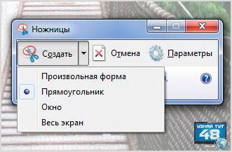 Как сделать снимок экрана в программе ножницы