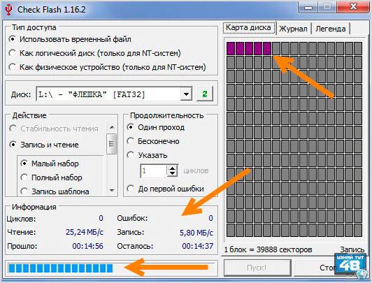 Как с помощью программы Check Flash узнать скорость флешки