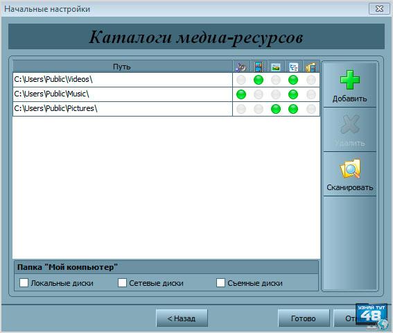 каталог медиа сервера
